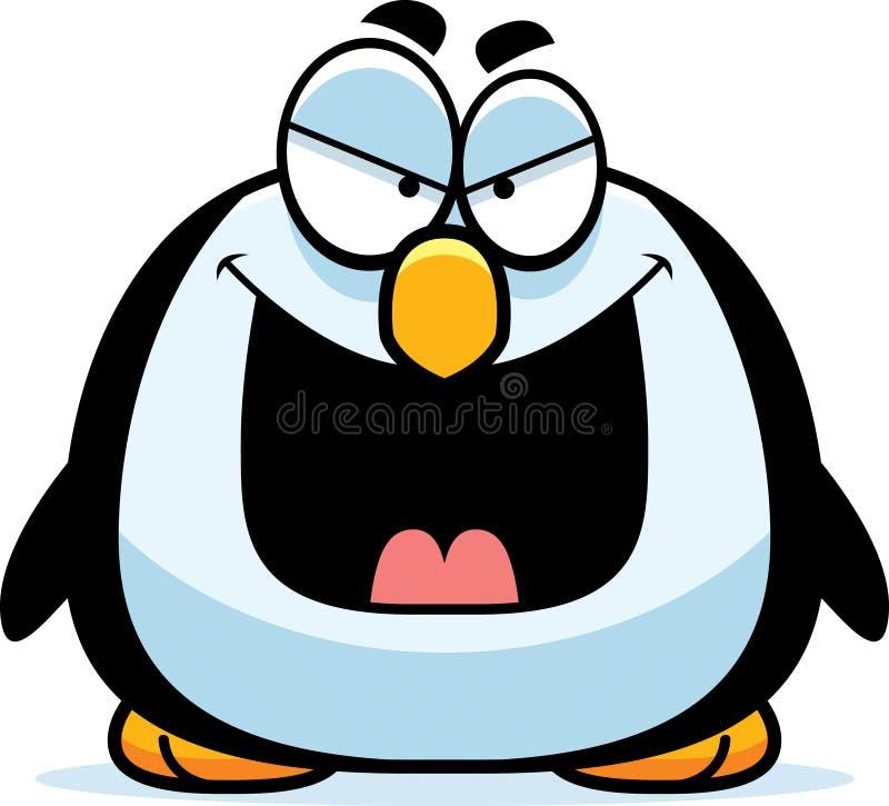 Kwaad Weinig Pinguïn vector illustratie