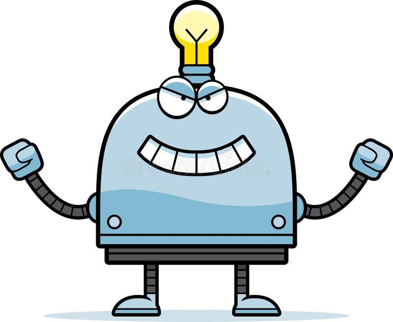 Kwaad Weinig Robot royalty-vrije illustratie