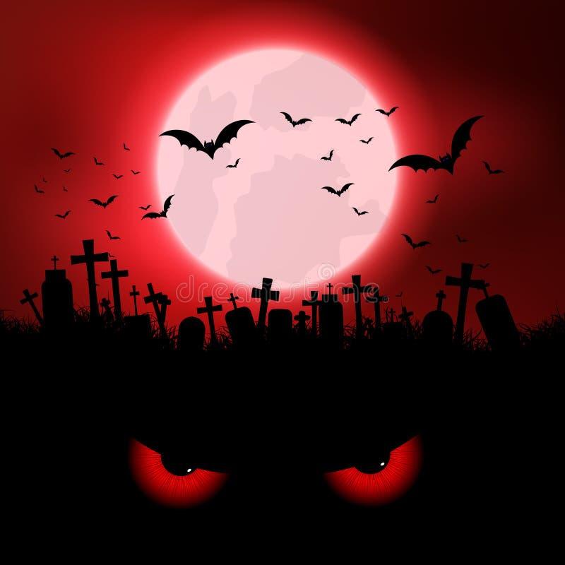 Kwade de ogenachtergrond van Halloween vector illustratie