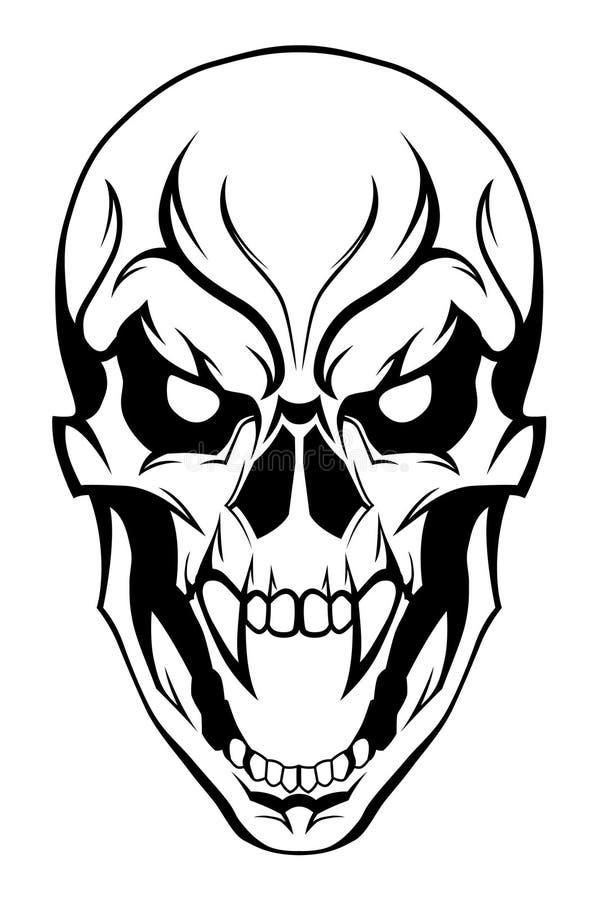 Kwade schedel vector illustratie
