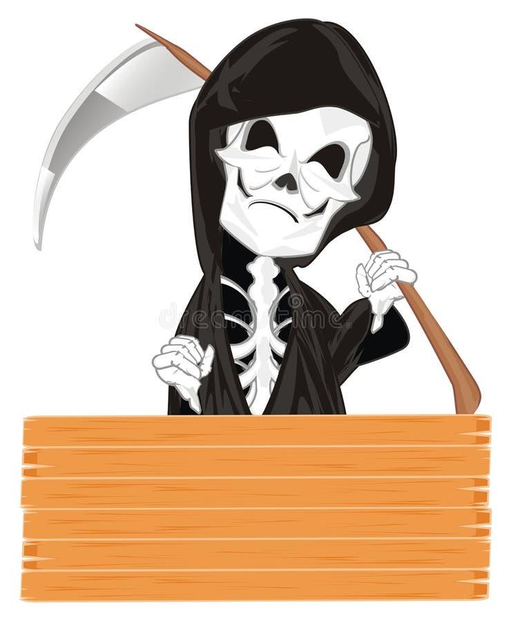 Kwade skelet en banner royalty-vrije illustratie