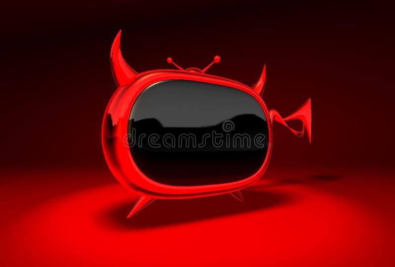 Kwade TV vector illustratie