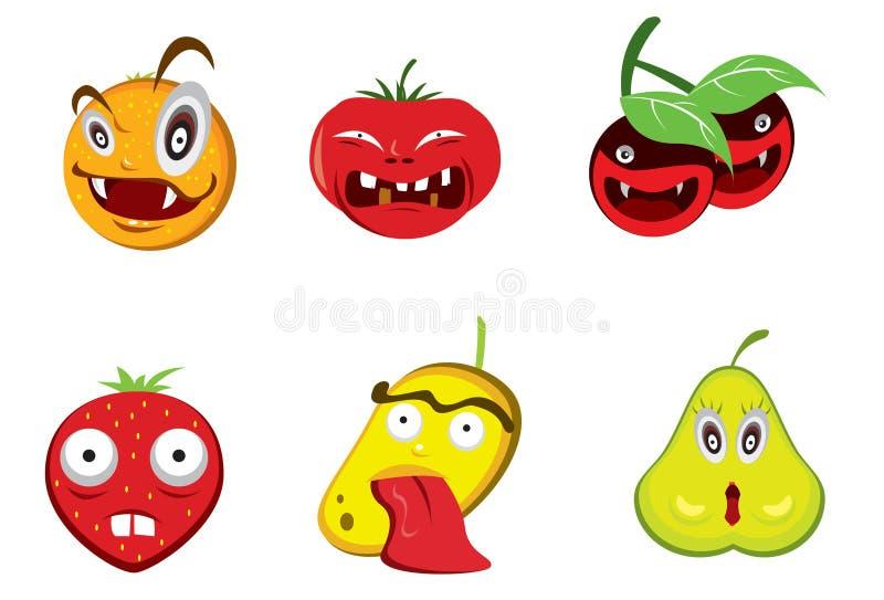 Kwade Vruchten stock illustratie