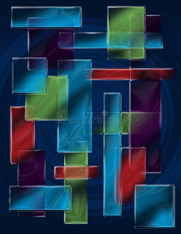 kwadrat abstrakcjonistyczna tekstura ilustracja wektor