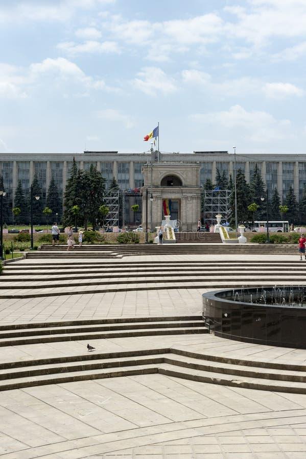Kwadrat - Chisinau fotografia stock