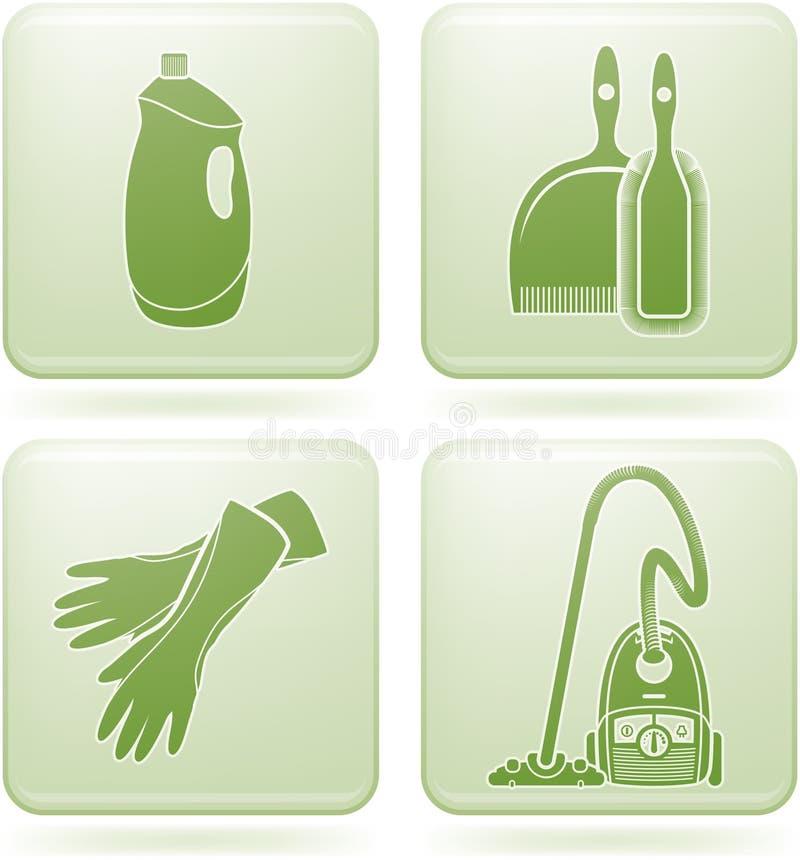 kwadrat cleaning ikon olivine ustalony kwadrat ilustracja wektor
