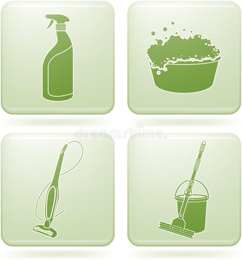 kwadrat cleaning ikon olivine ustalony kwadrat royalty ilustracja