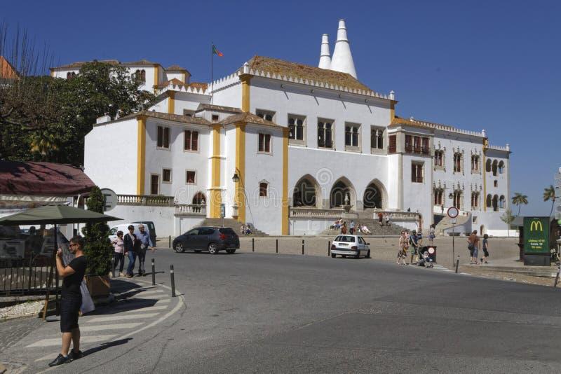Kwadrat i pałac Sintra obrazy stock