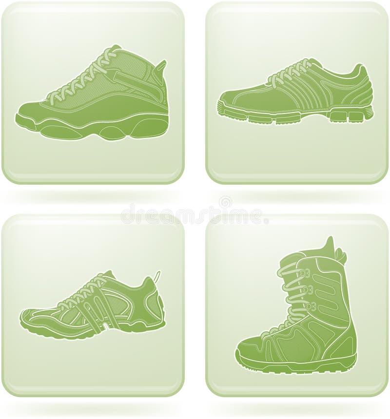 kwadrat ikon olivine ustaleni buty bawją się kwadrat ilustracji