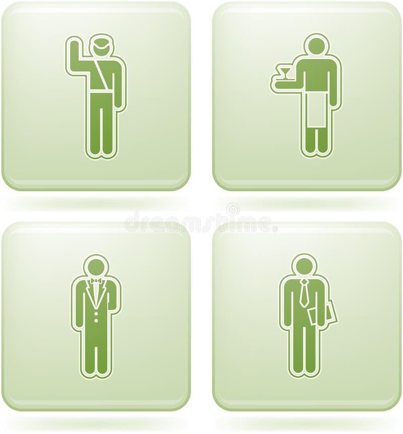 kwadrat ikon zajęcia olivine ustalony kwadrat royalty ilustracja