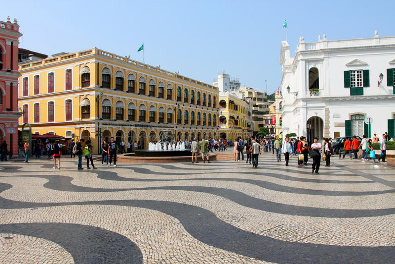 kwadrat Macau senado kwadrat obrazy royalty free