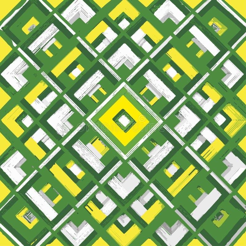 Kwadrat, mandala, ręka rysujący wektoru wzór n royalty ilustracja