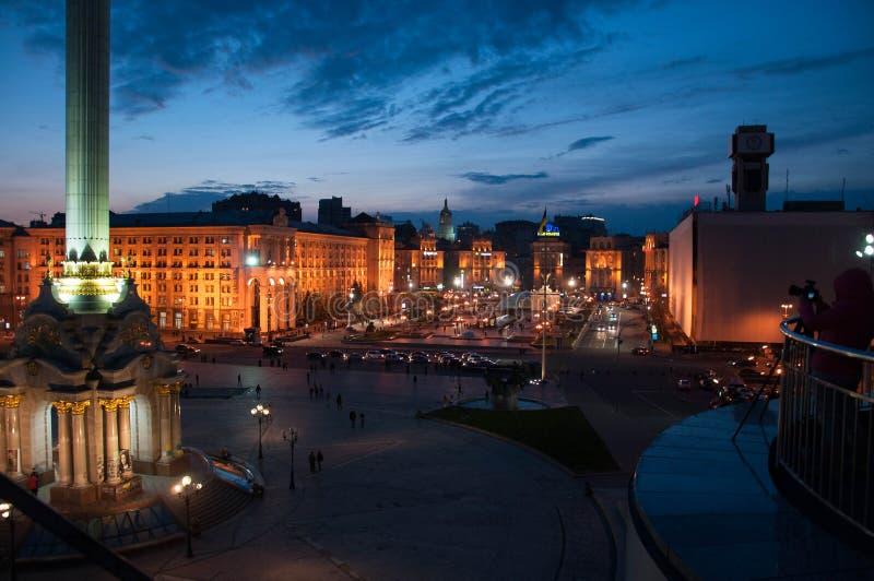 Kwadrat niezależność Kyiv zdjęcie stock