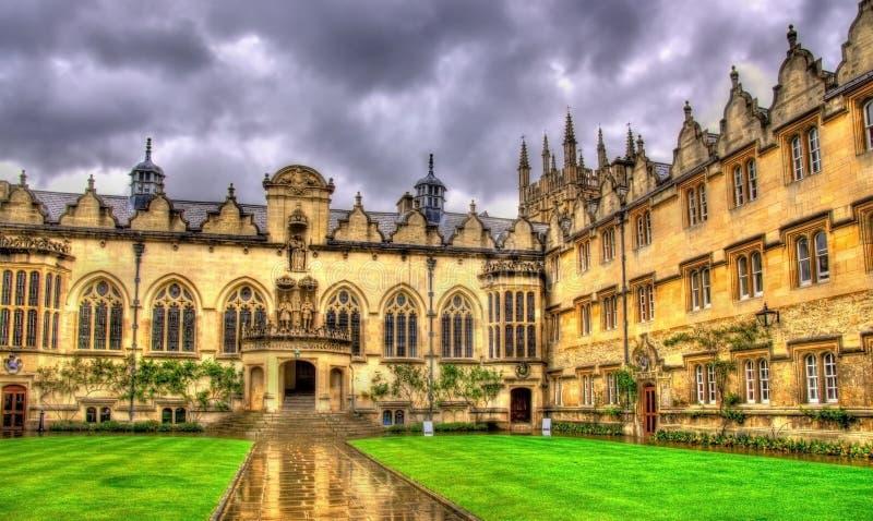 Kwadrat Oriel szkoła wyższa w Oxford zdjęcie royalty free