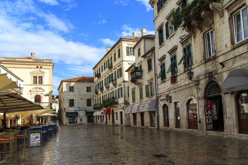 Kwadrat ręki, Kotor, Montenegro zdjęcia stock