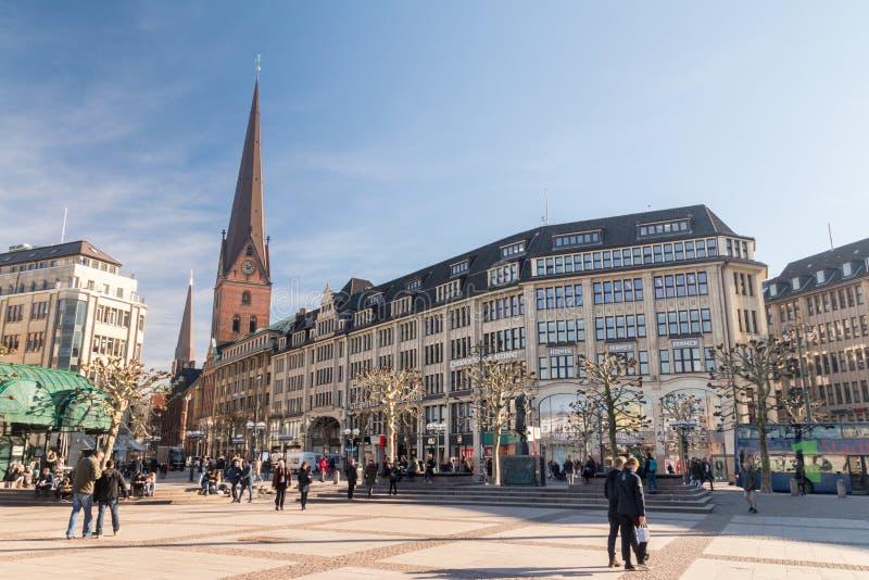 Kwadrat Rathausmarkt znaczenia urząd miasta rynek obraz stock