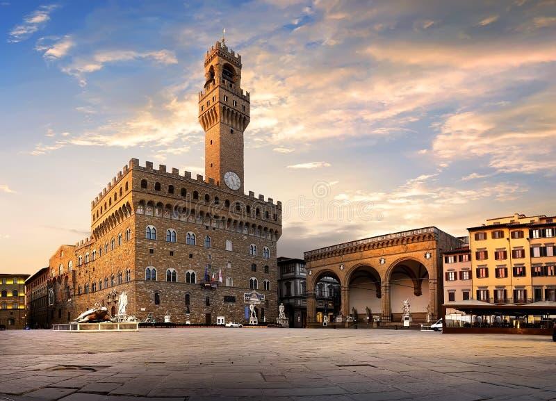 Kwadrat Signoria w Florencja fotografia royalty free