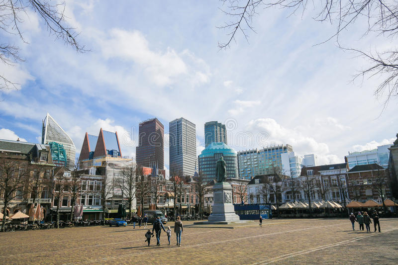 Kwadrat w Haga holandie zdjęcie stock