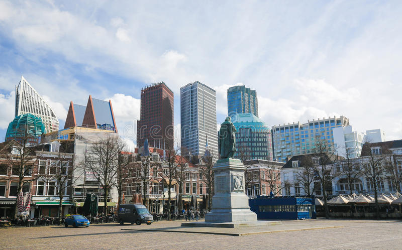 Kwadrat w Haga holandie obrazy royalty free
