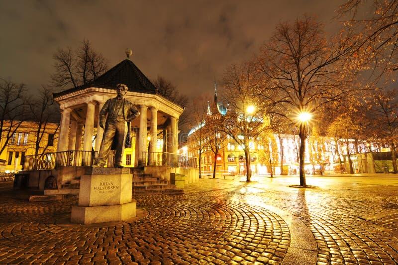Kwadrat w Oslo, Norwegia obrazy stock