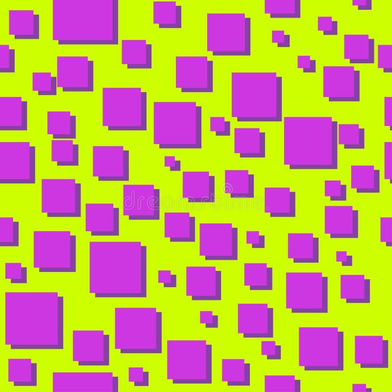 Kwadrata abstrakta 80s wektoru bezszwowy wzór ilustracji