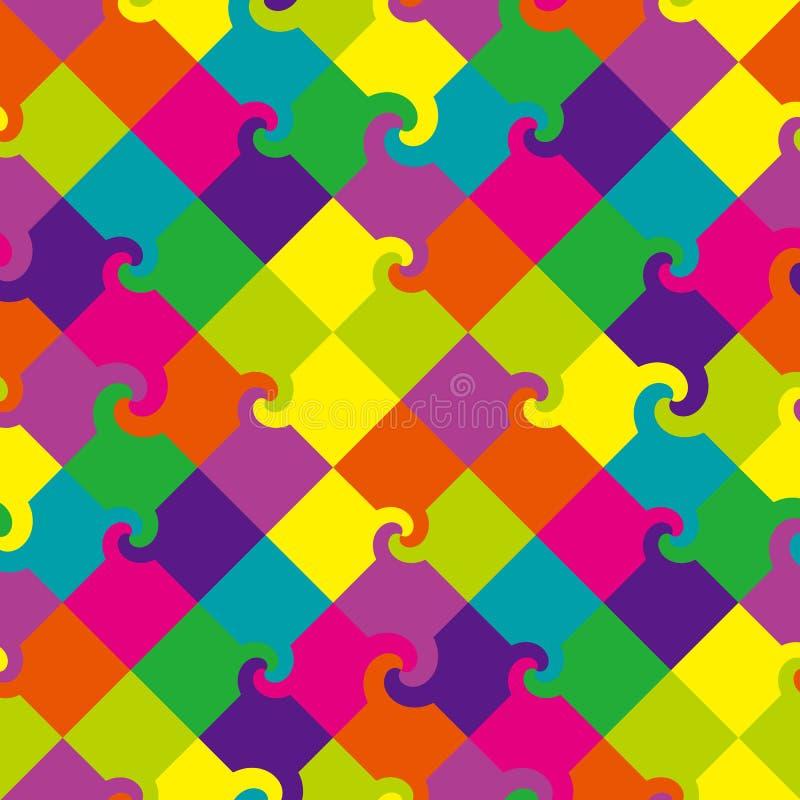 kwadrata barwiony deseniowy zawijas ilustracji
