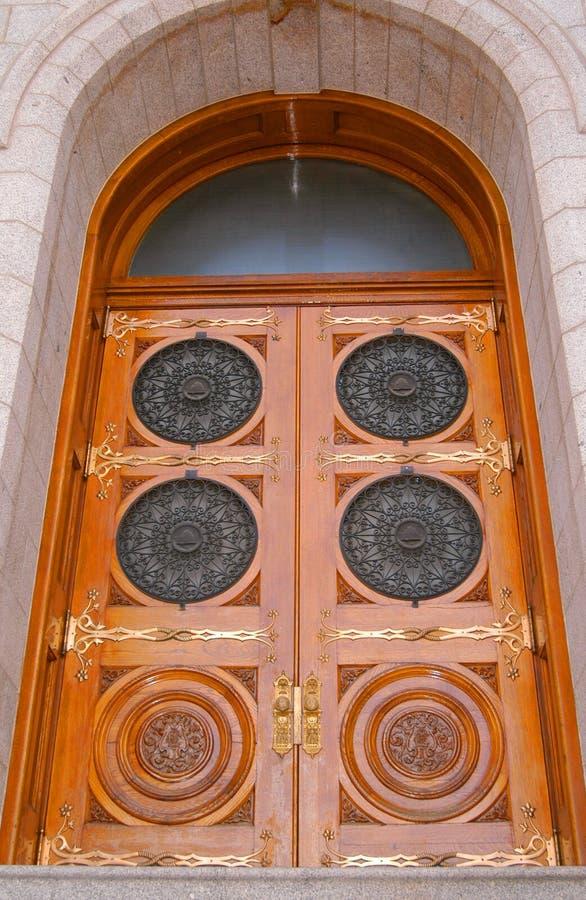 kwadratowa świątynia drzwi zdjęcia royalty free