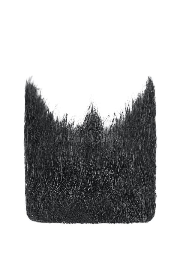 Kwadratowa czarna broda odizolowywająca na bielu Mężczyzna ` s moda obrazy stock