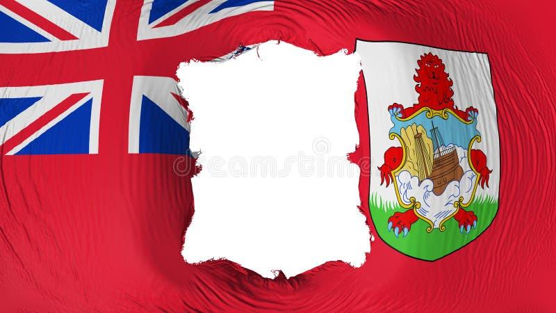 Kwadratowa dziura w Bermuda fladze royalty ilustracja