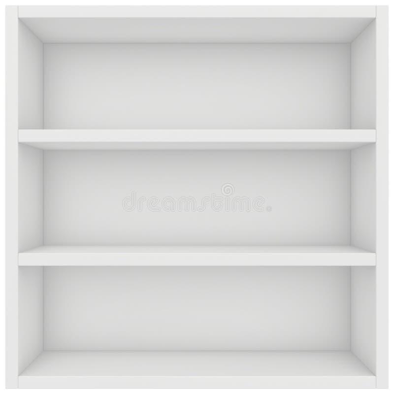 Kwadratowa półka 3d odpłacają się na białym tle ilustracji