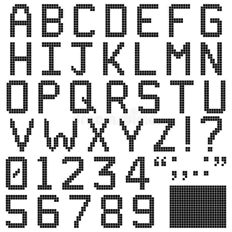 Kwadratowa piksel chrzcielnica ilustracji