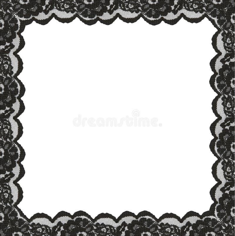 Kwadratowa rama od czerni koronki krawędzi zdjęcie royalty free
