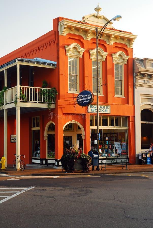 Kwadratowe książki, Oxford, Mississippi zdjęcie royalty free