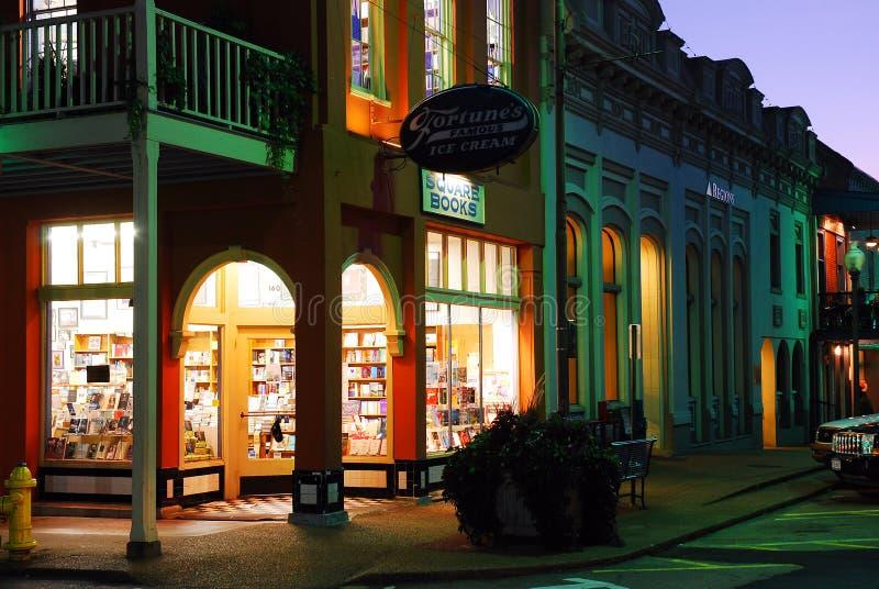 Kwadratowe książki, w centrum Oksfordzki Mississippi obraz stock