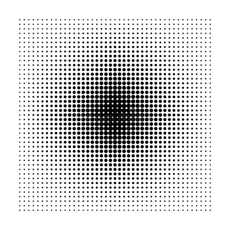 Kwadratowego halftone geometryczni kształty, kropki abstrakcjonistyczny tło, minimalny tło wzór royalty ilustracja