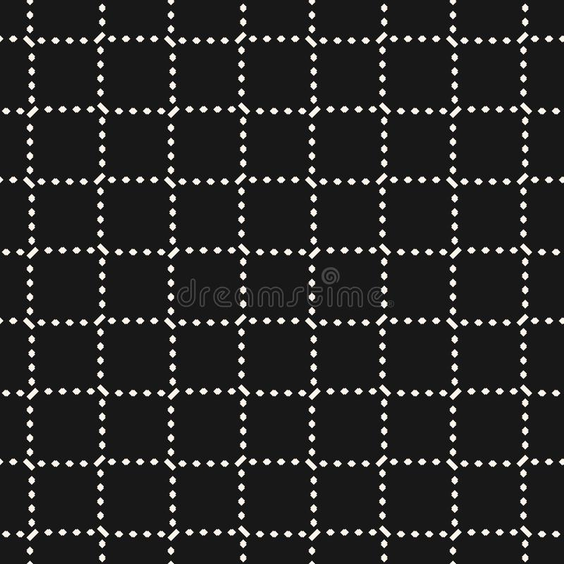 Kwadratowej siatki bezszwowy wz?r Wektorowa abstrakcjonistyczna geometryczna tekstura z przecinaj?cymi liniami royalty ilustracja