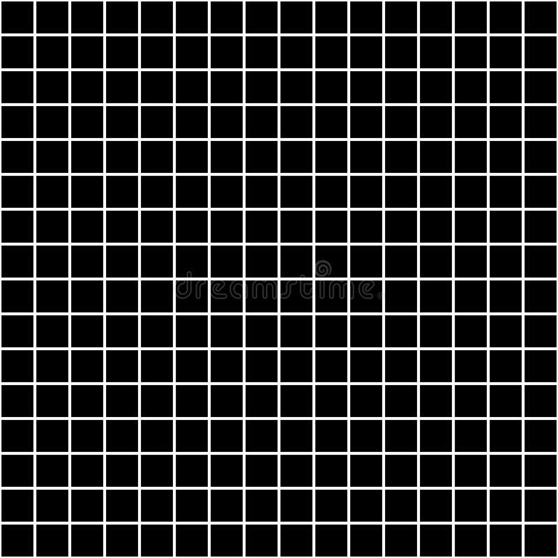 Kwadratowej siatki wektorowy bezszwowy wzór Subtelny ciemny w kratkę powtórki tło, prosty projekt ilustracja wektor