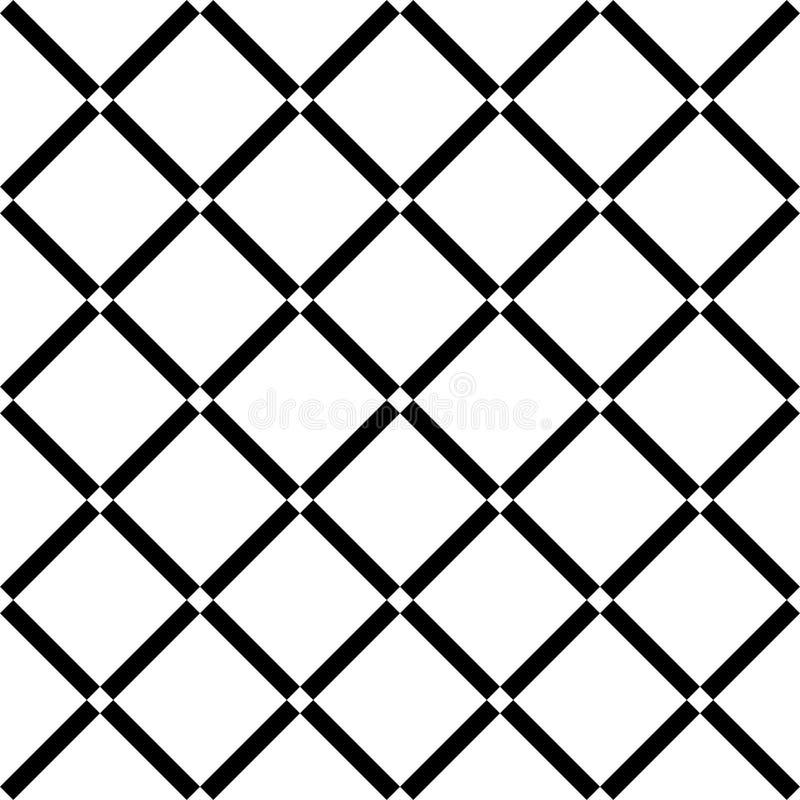 Kwadratowej siatki wektorowy bezszwowy wzór Subtelny ciemny w kratkę powtórki tło, prosty projekt ilustracji