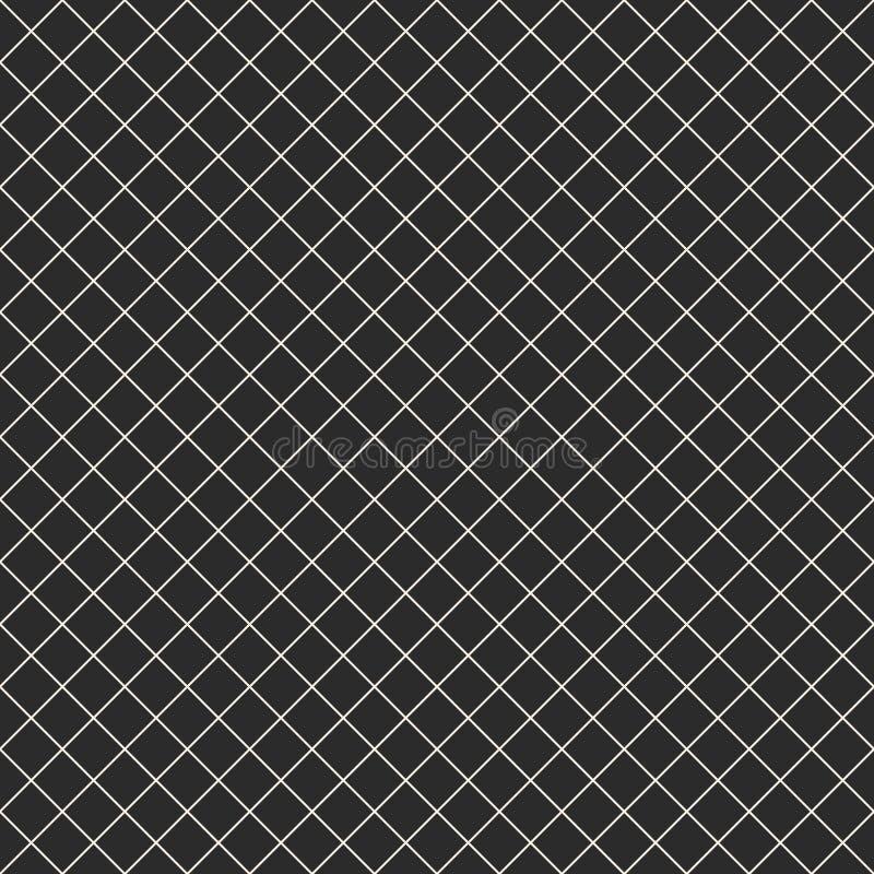 Kwadratowej siatki wektorowy bezszwowy wzór z cienkimi liniami, siatka, sieć, kratownica, grill royalty ilustracja