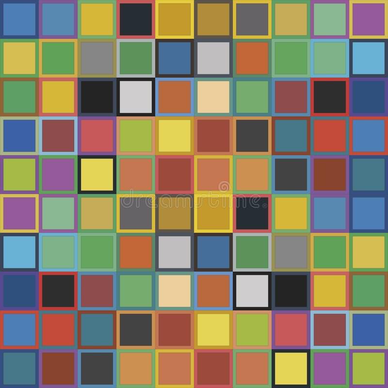 Kwadratowi deseniowi Kolorowi piksle ilustracja wektor