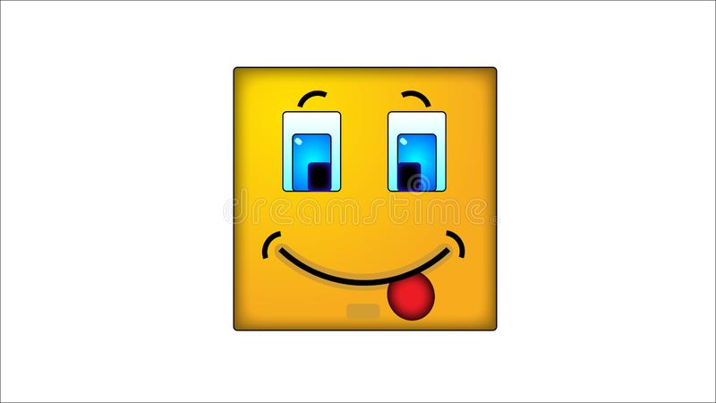 Kwadratowi smilies jocosity ilustracji