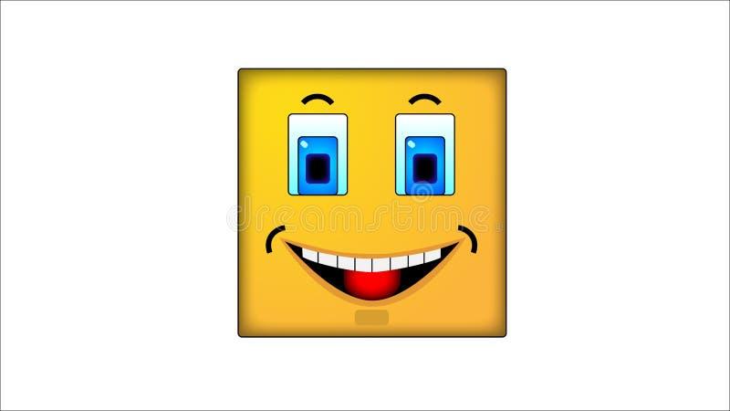 Kwadratowi smilies joyce ilustracji