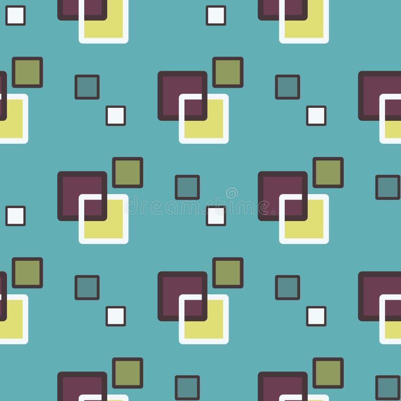 Kwadratowy abstrakcjonistyczny geometryczny wzór z rhombuses bezszwowym wektorowym tłem royalty ilustracja