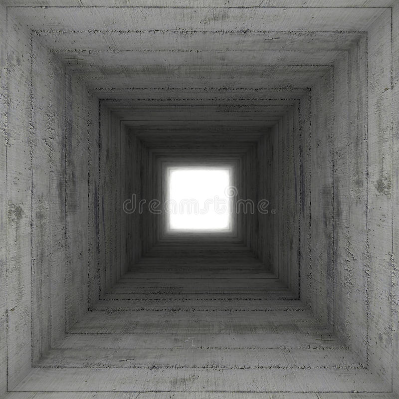 Kwadratowy betonowy tunel royalty ilustracja