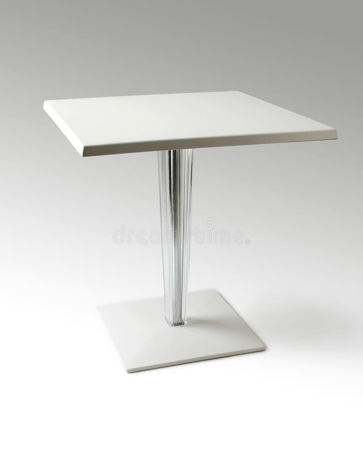 Kwadratowy biały stolik do kawy zdjęcie stock