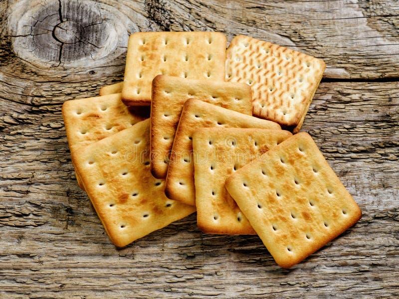 Kwadratowy biskwitowy krakers fotografia royalty free