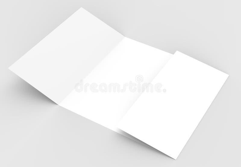Kwadratowy brama fałdu broszurki egzamin próbny up na miękkim szarym backgrou royalty ilustracja