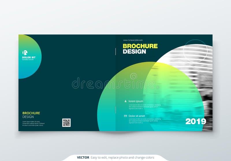 Kwadratowy broszurka projekt Magenta korporacyjnego biznesu prostokąta szablonu broszurka, raport, katalog, magazyn Broszurka ilustracji