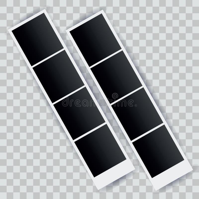 Kwadratowy fotografia szablon, natychmiastowe fotografie dla zabawy i wydarzenia, wektor ilustracji
