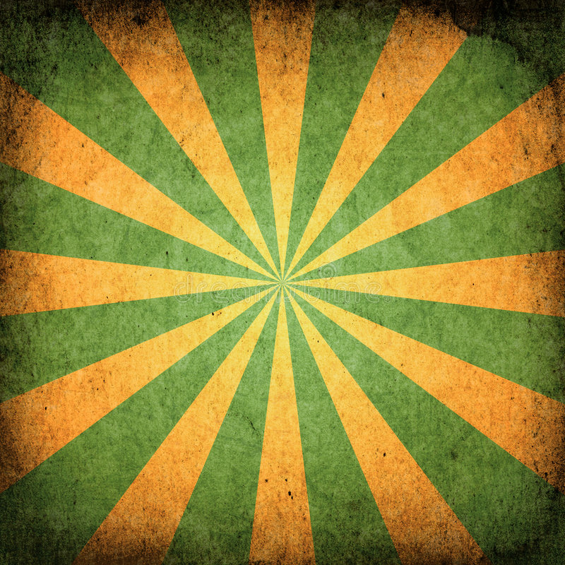 kwadratowy grunge sunburst ilustracji